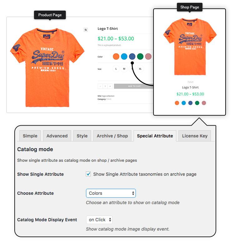 WooCommerce Variation Swatches Pro-Woo多颜色管理色板插件[更至v1.1.17]