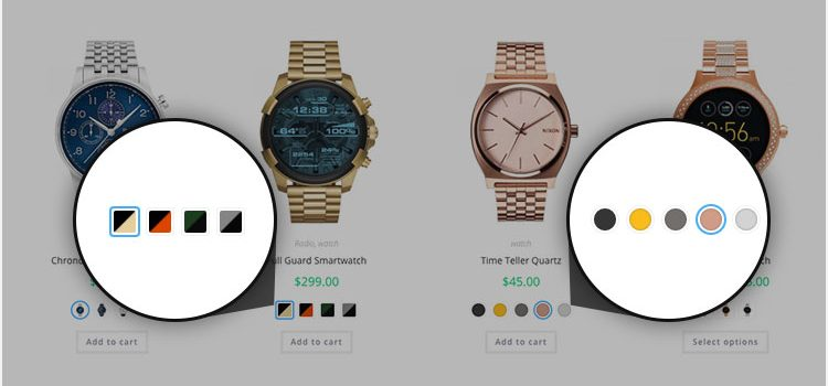 How To Enable Product Variation Color, Image, Radio and Label Swatches On Store / Archive Page In Flatsome Theme