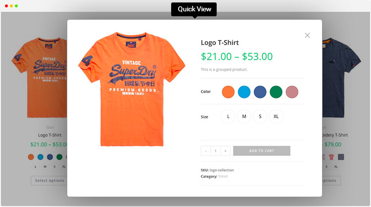 swatches quickview WooCommerce Variation Swatches Pro v.1.1.3 - Intelprise