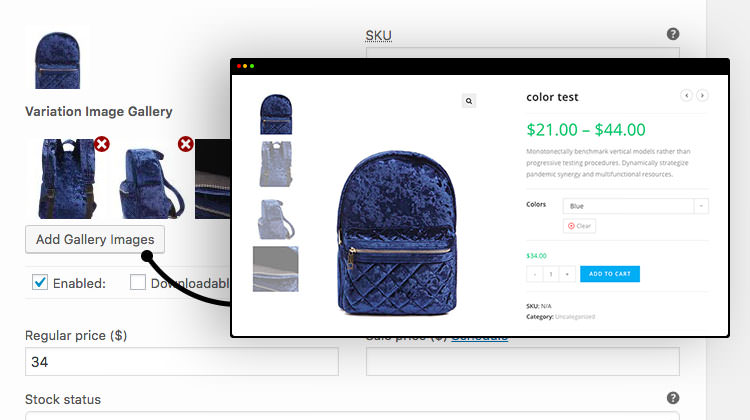 Additional Variation Images Gallery For WooCommerce