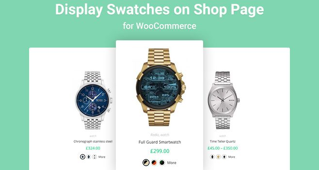 How to Display Variation Swatches on Archive or Shop Page for WooCommerce